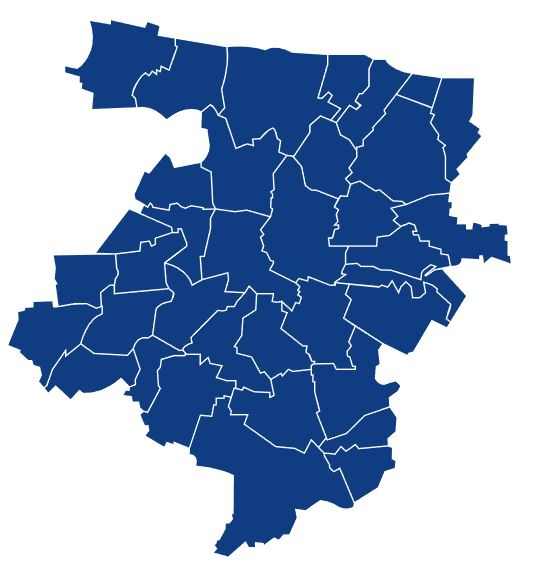 Carte des communes de Bayeux Intercom